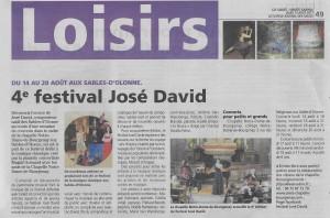 Festival José DAVID J-D-S du 10 Aout 2017