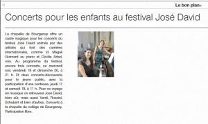 Festival José DAVID O-F du 16 Aout 2017